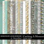 Catching a Moment Grunge Paper Pack-$3.49 (Laura Burger)
