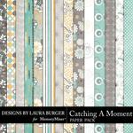 Catching a Moment Pattern Paper Pack-$1.75 (Laura Burger)