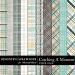 Catching A Moment Plaids Paper Pack-$2.49 (Laura Burger)