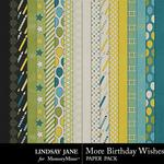More Birthday Wishes Paper Pack-$3.49 (Lindsay Jane)