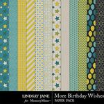 More Birthday Wishes Extra Paper Pack-$1.99 (Lindsay Jane)