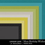 More Birthday Wishes Embossed Paper Pack-$1.99 (Lindsay Jane)