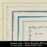 More Birthday Wishes Edges-$1.99 (Lindsay Jane)