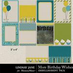 More Birthday Wishes Journal Cards-$1.99 (Lindsay Jane)