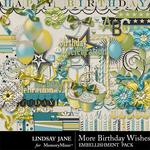 More Birthday Wishes Embellishment Pack-$3.49 (Lindsay Jane)
