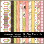 Get Your Moxie On Pattern Paper Pack-$3.49 (Jumpstart Designs)