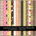 Get Your Moxie On Pattern Paper Pack 2-$3.49 (Jumpstart Designs)