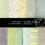 Lil Mr Sporty Paper Pack-$4.00 (Karen Lewis)