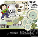Lil Mr Sporty Embellishment Pack-$3.00 (Karen Lewis)