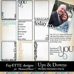 Ups and Downs Word Frames Pack-$1.99 (Fayette Designs)