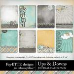 Ups and Downs Journal Cards Pack-$1.99 (Fayette Designs)