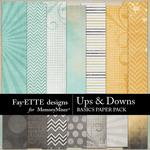 Ups and Downs Basics Paper Pack-$2.99 (Fayette Designs)