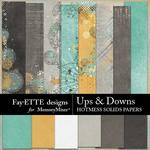 Ups and Downs HotMess Solids Paper Pack-$2.99 (Fayette Designs)