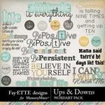 Ups and Downs WordArt Pack-$3.99 (Fayette Designs)