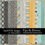 Ups and Downs Patterned Paper Pack-$2.99 (Fayette Designs)