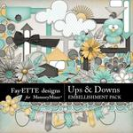 Ups and Downs Embellishment Pack-$3.49 (Fayette Designs)