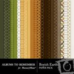 Boyish Earth Paper Pack-$3.99 (Albums to Remember)