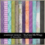 You Gave Me Wings Pattern Paper Pack-$2.45 (Jumpstart Designs)