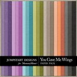 You Gave Me Wings Plain Paper Pack-$2.45 (Jumpstart Designs)