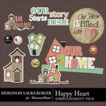 Happy Home Flairs and Wordart-$1.75 (Laura Burger)