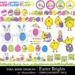Easter Brights Embellishment Pack-$2.10 (Tara Reed Designs)