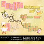 Easter Egg Zone WordArt-$1.75 (Laura Burger)
