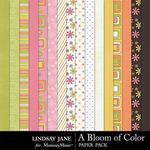 A Bloom of Color Paper Pack-$2.45 (Lindsay Jane)