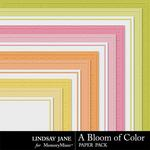 A Bloom of Color Embossed Paper Pack-$1.40 (Lindsay Jane)