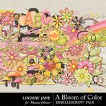 A Bloom of Color Embellishment Pack-$3.49 (Lindsay Jane)