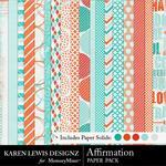 Affirmation Paper Pack-$3.99 (Karen Lewis)