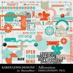 Affirmation Embellishment Pack-$2.99 (Karen Lewis)