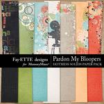 Pardon My Bloopers Hotmess Solids Paper Pack-$2.99 (Fayette Designs)