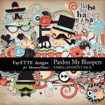 Pardon My Bloopers Embellishment Pack-$2.75 (Fayette Designs)