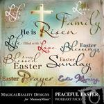 Peaceful Easter WordArt-$1.75 (MagicalReality Designs)
