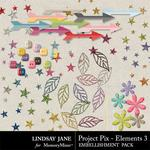 Project Pix Embellishment Pack 3-$3.49 (Lindsay Jane)