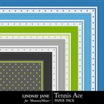 Tennis Ace Embossed Paper Pack-$1.99 (Lindsay Jane)