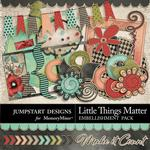 Little Things Matter Add On Embellishment Pack-$2.40 (Jumpstart Designs)