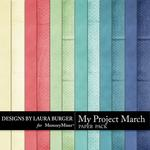 My Project March Solid Paper Pack-$3.49 (Laura Burger)