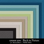Back to Nature Embossed Paper Pack-$1.99 (Lindsay Jane)