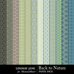 Back to Nature Pattern Paper Pack-$1.99 (Lindsay Jane)