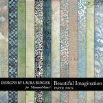 Beautiful Imagination Pattern Paper Pack-$3.49 (Laura Burger)