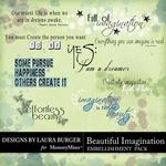 Beautiful Imagination Wordart-$2.49 (Laura Burger)