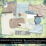 Beautiful Imagination Journal Embellishment Pack-$2.49 (Laura Burger)