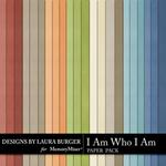 I Am Who I Am Solid Paper Pack-$3.49 (Laura Burger)