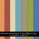 I Am Who I Am Embossed Paper Pack-$3.49 (Laura Burger)