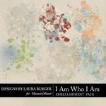 I Am Who I Am Paint Splatters-$2.49 (Laura Burger)