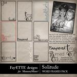 Solitude Word Frames Pack-$2.99 (Fayette Designs)