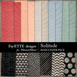 Solitude Basics Paper Pack-$3.49 (Fayette Designs)