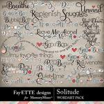 Solitude WordArt Pack-$2.99 (Fayette Designs)