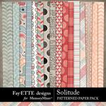 Solitude Patterned Paper Pack-$3.99 (Fayette Designs)
